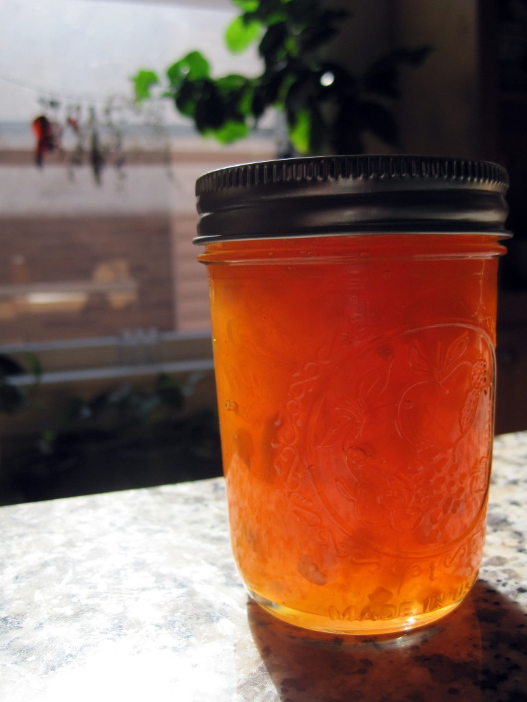 Peach-Bourbon-Sweet Corn Jam | Imperfect Urban Farm